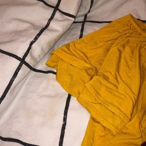 Old Navy Tops - Yellow off the shoulder tee